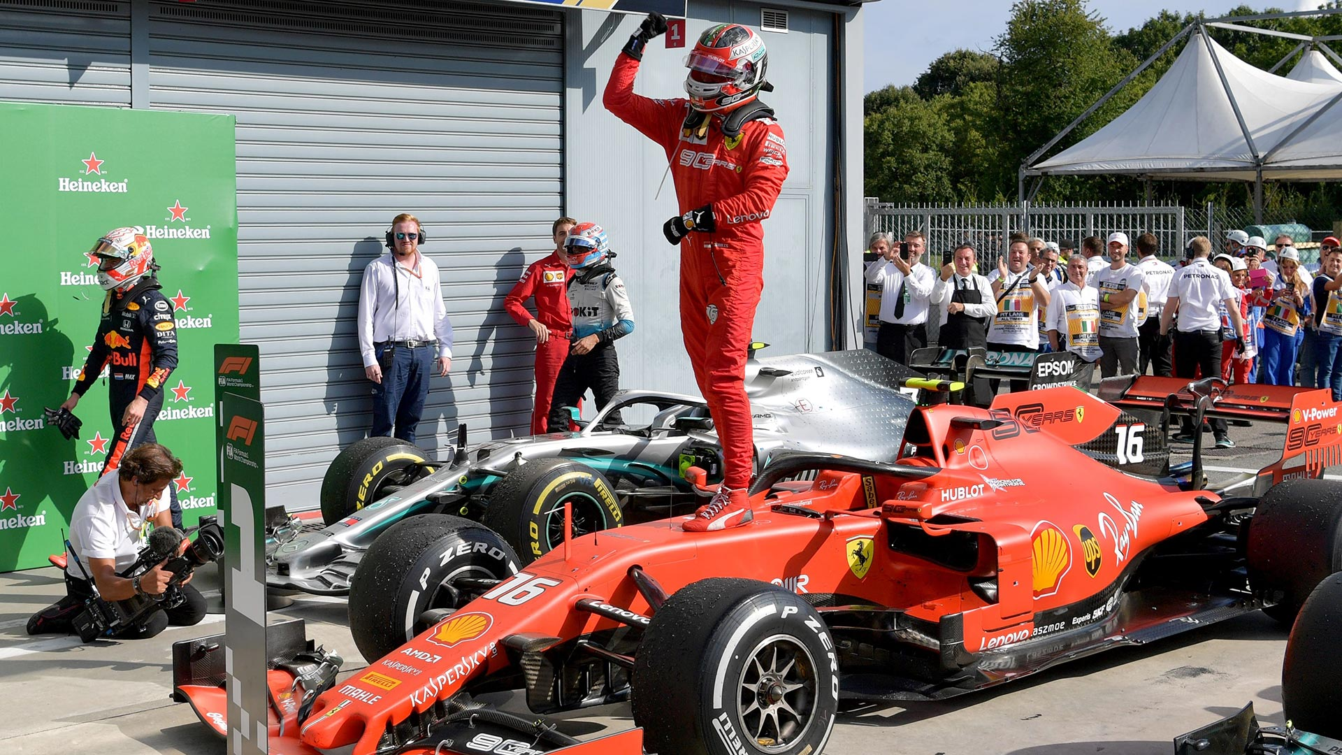 Charles Leclerc takes delivery of 2019 Italian GP-winning Ferrari ahead of Imola race | Formula 1®