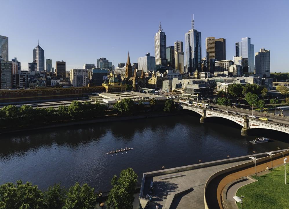 Melbourne City Skyline Hero
