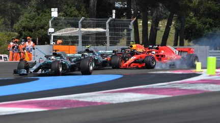 Serene Hamilton wins incident-packed French Grand Prix