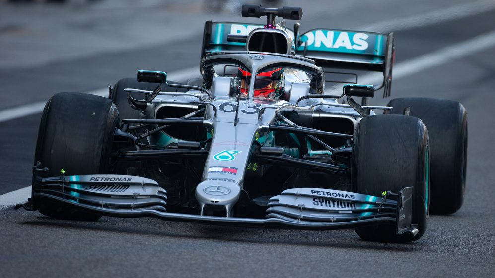 Russell top for Mercedes as Leclerc crashes in final day of 2019 running Abu Dhabi tyre test | Formula 1®
