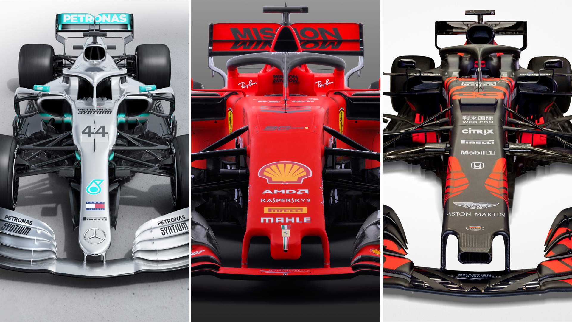 Mercedes Ferrari And Red Bull Mark Hughes Analyses The Top Three Teams 2019 Cars Formula 1