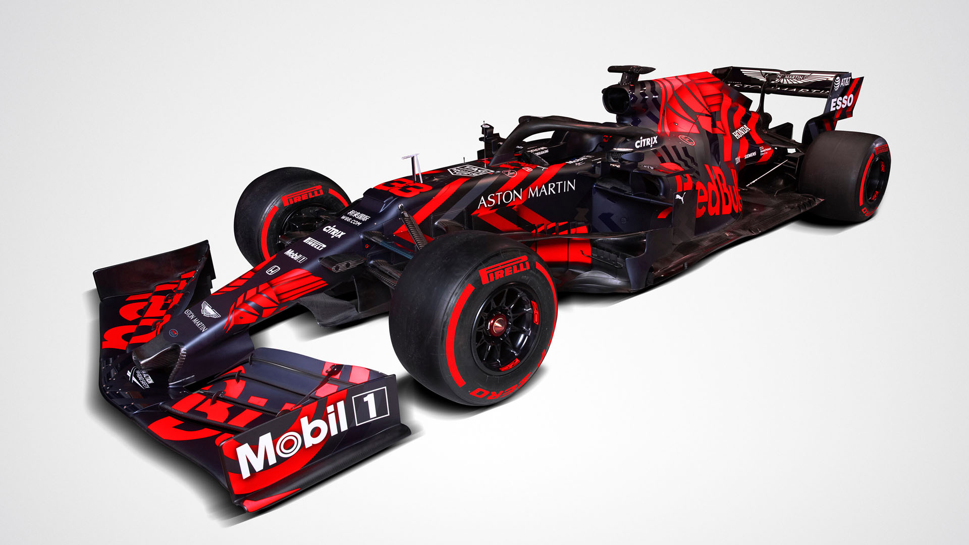 Red Bull Unveil First Honda Powered Car In One Off Livery Formula 1