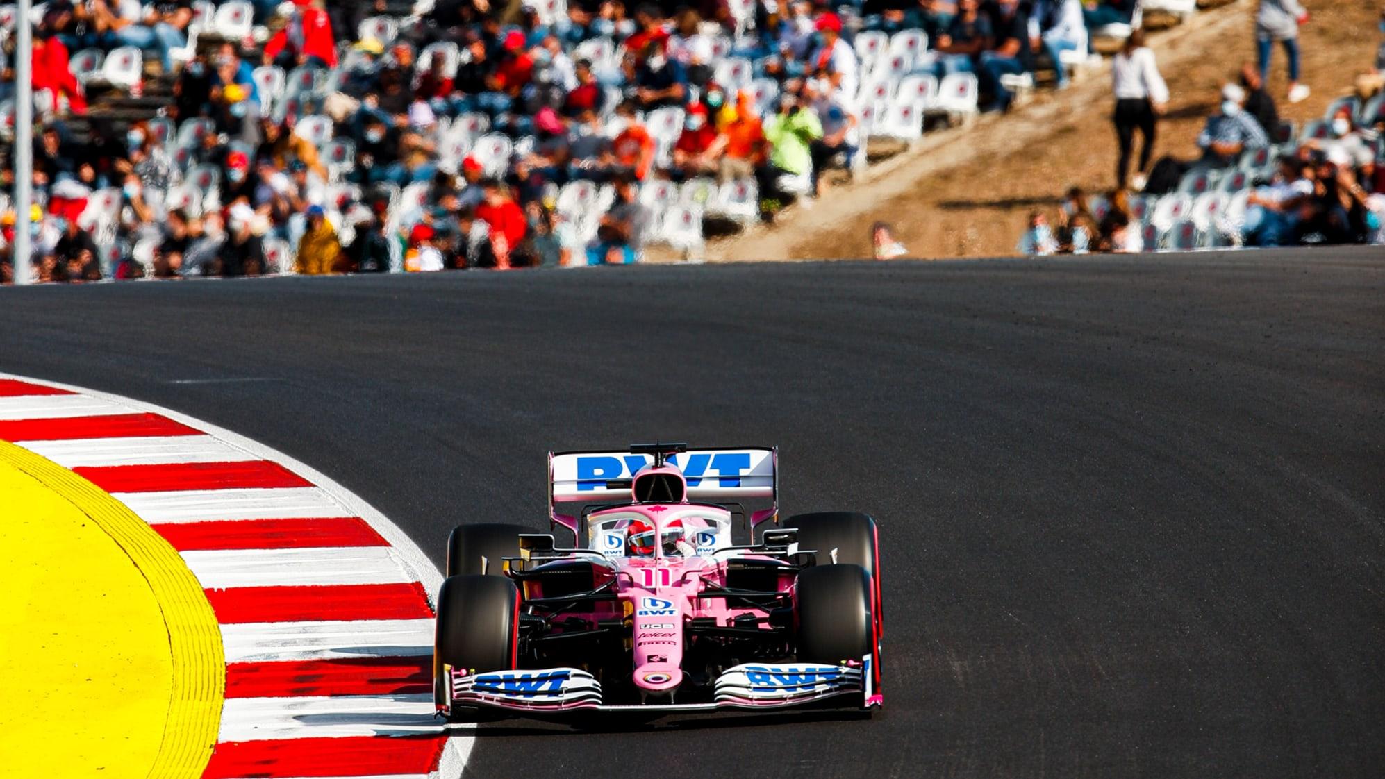 Sergio Perez podczas Grand Prix Portugalii 2020 na torze Algarve w Portimao