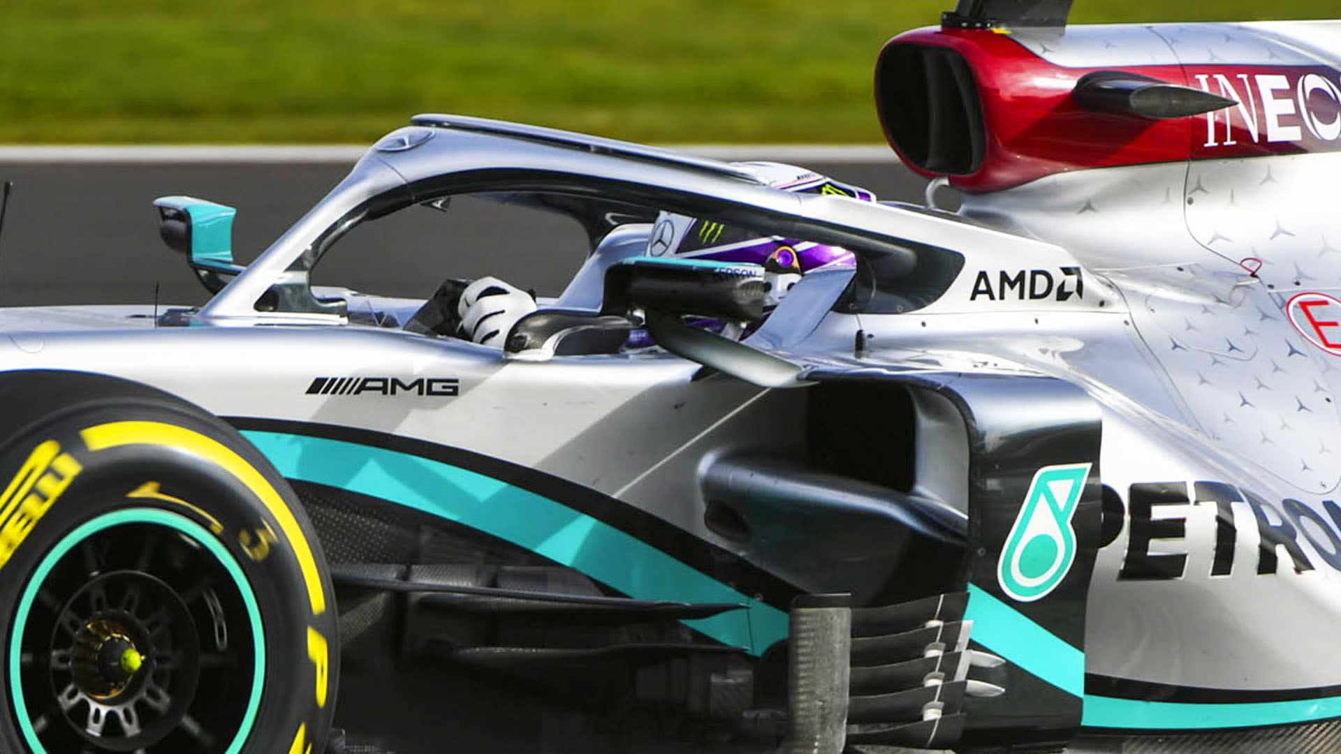 Lewis Hamilton Debuts New Purple Helmet Design At Mercedes W11 Shakedown Formula 1