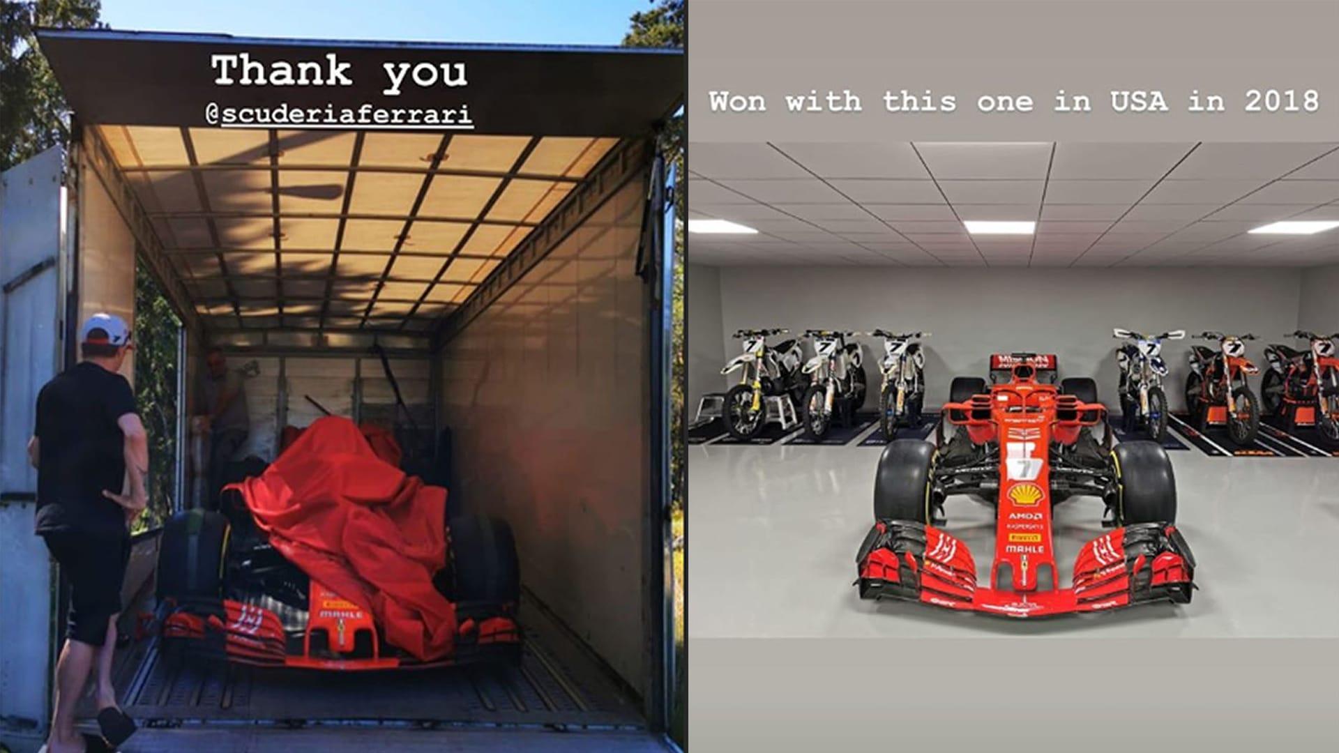 Ferrari Send Kimi Raikkonen His 2018 Us Grand Prix Winning Sf71h Formula 1