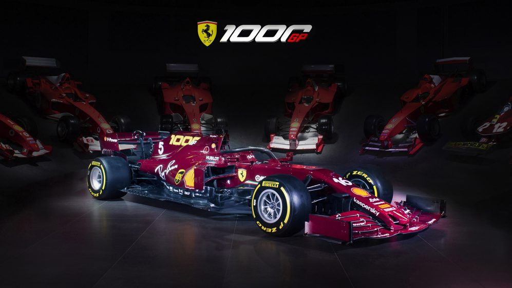 Ferrari Unveil Retro Burgundy Livery For 1000th Grand Prix At Mugello Formula 1