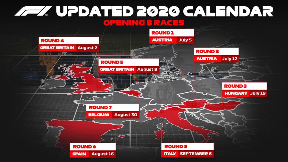 F1 2020 Season Restart
