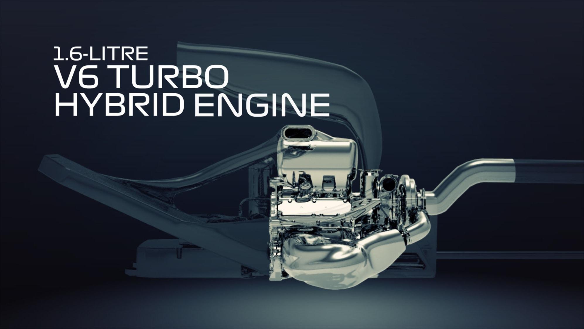 Wizualizacja silnika Formuły 1 V6 Turbo 1,6L