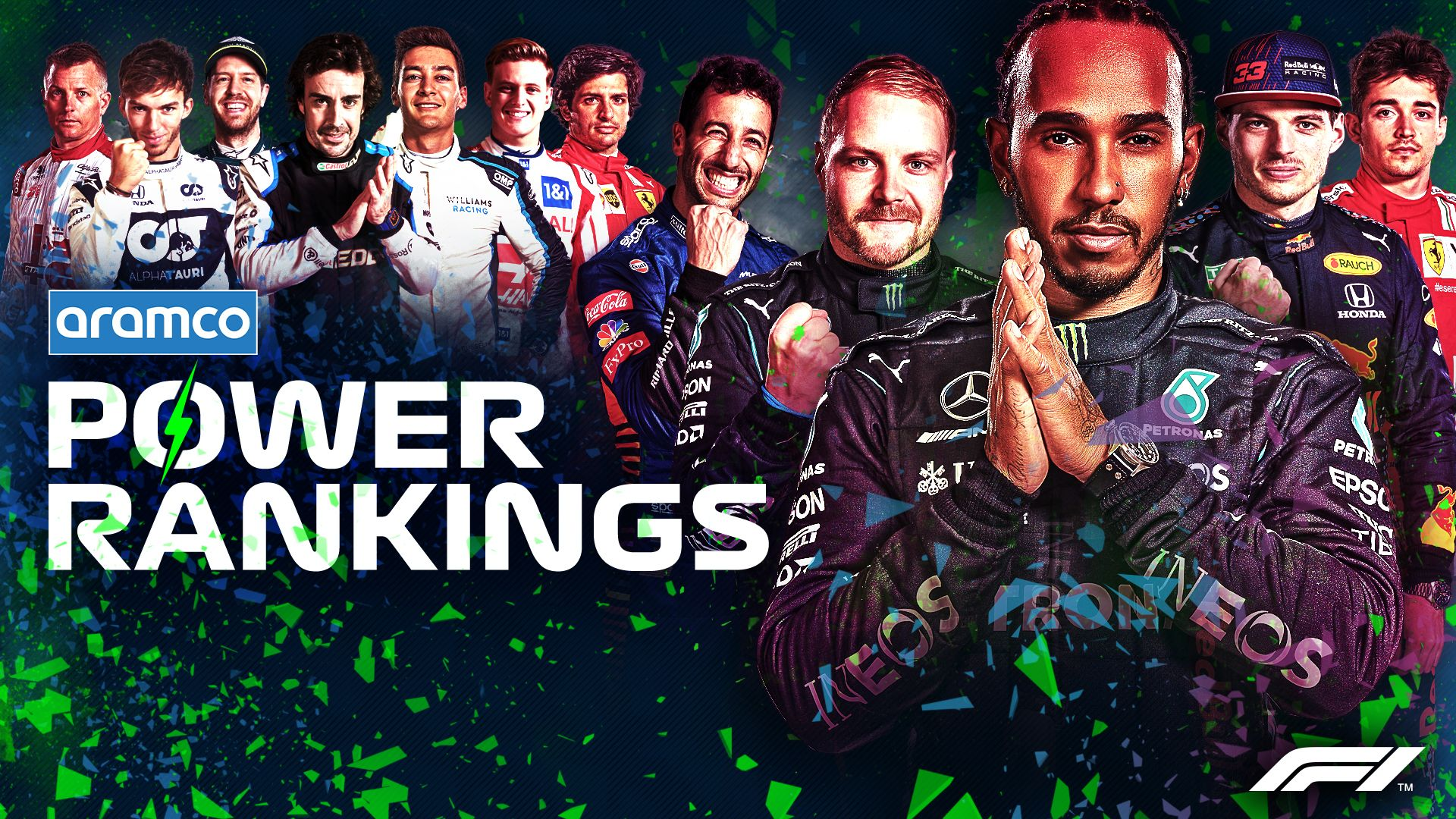 F1 POWER RANKINGS WITH ARAMCO: Who's top of the table after the nail-biting French Grand Prix? | Formula 1®