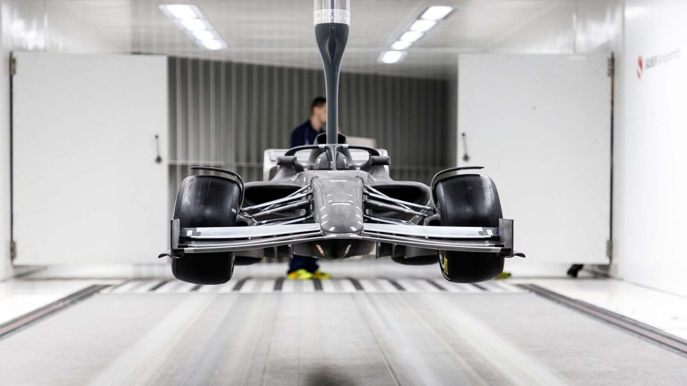F1 releases images of 2021 vehicle in wind tunnel