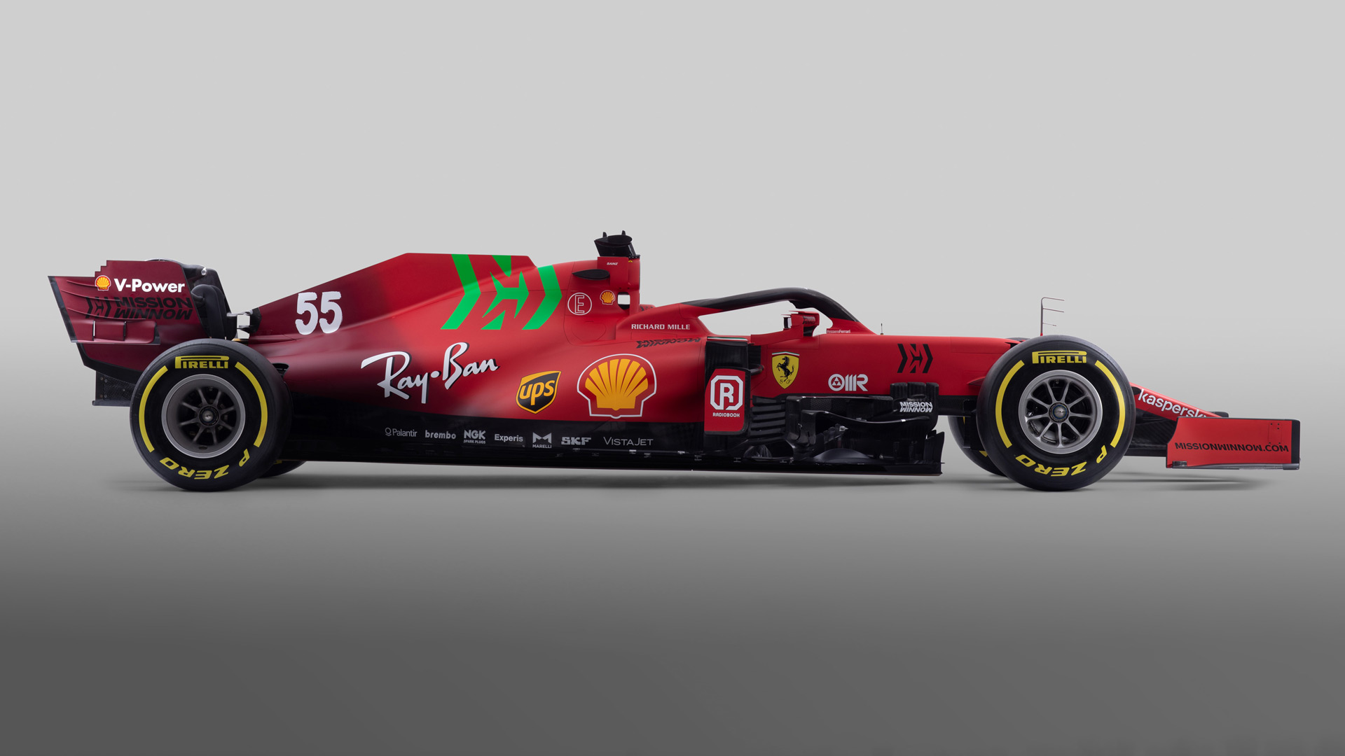 First Look Ferrari Unveil Hotly Anticipated Sf21 F1 Car With Splash Of Green On Traditional Red Livery Formula 1