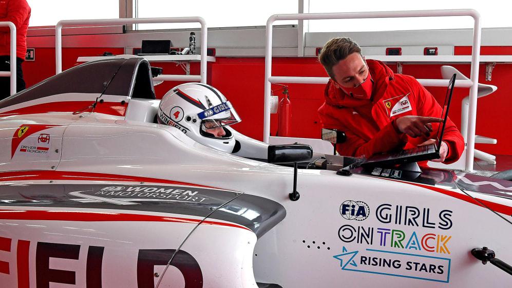 Maya Weug Named As First Female Member Of The Ferrari Driver Academy Formula 1