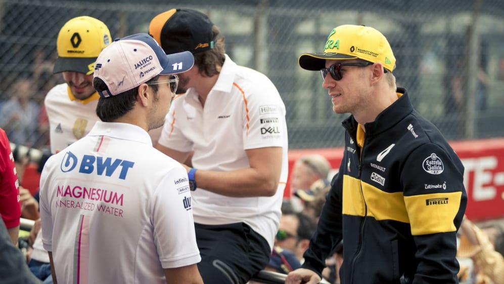 Nico Hulkenberg Serio Perez drivers parade.jpg