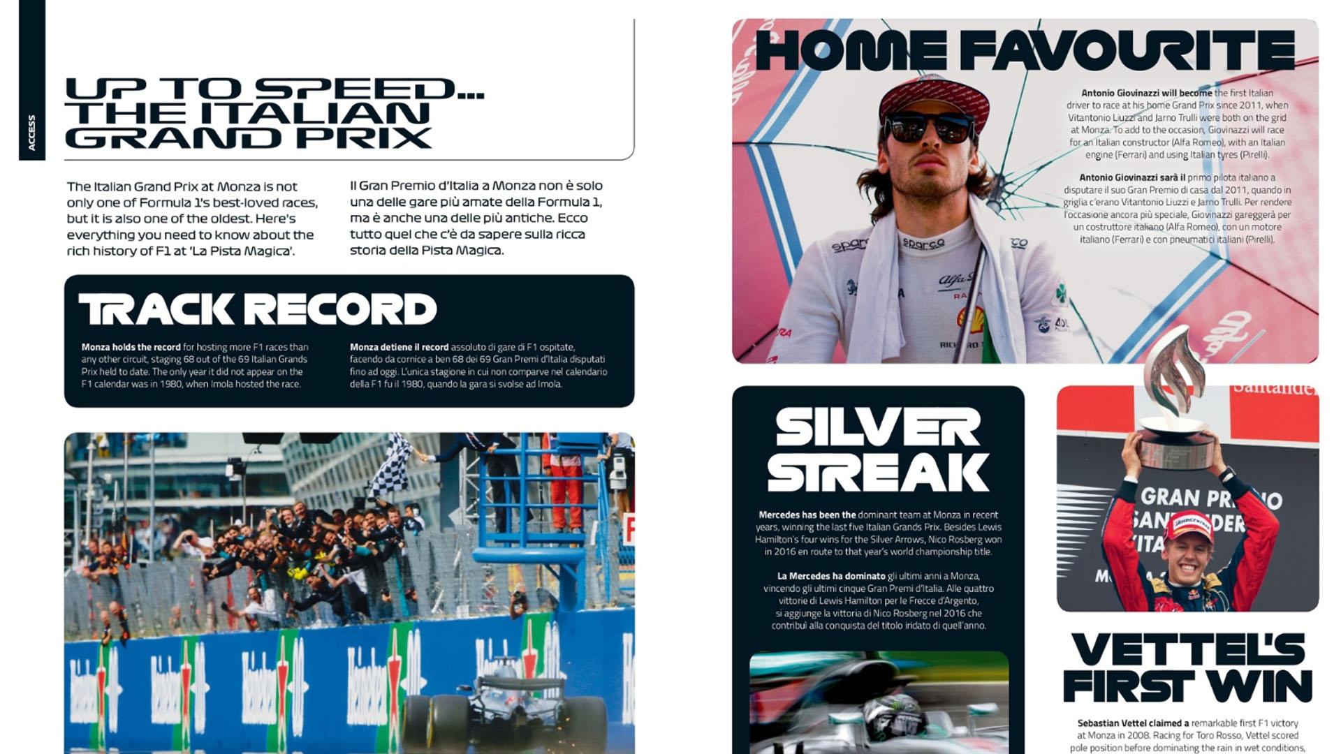 ITALY - free digital race programme | Formula 1®