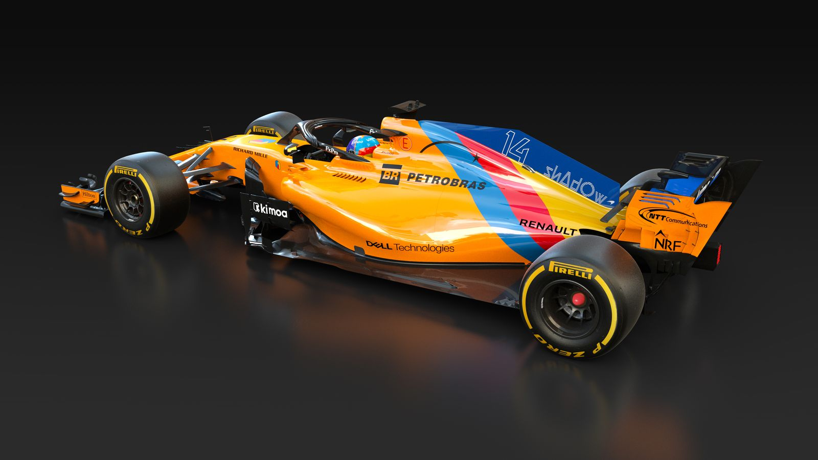 mclaren reveal one off livery for alonso s final race in abu dhabi formula 1. Black Bedroom Furniture Sets. Home Design Ideas
