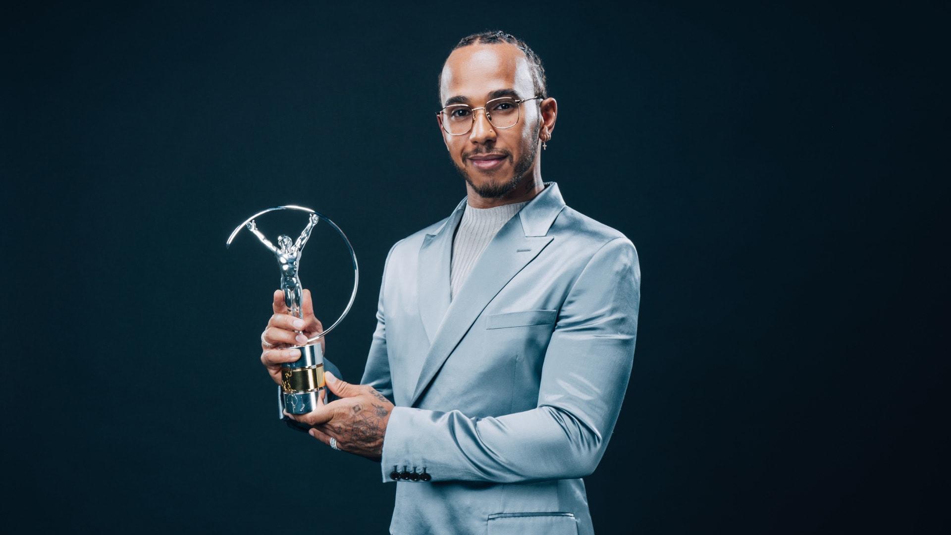Lewis Hamilton, co-winner of the Laureus World Sportsman of the Year Award, February 17, 2020