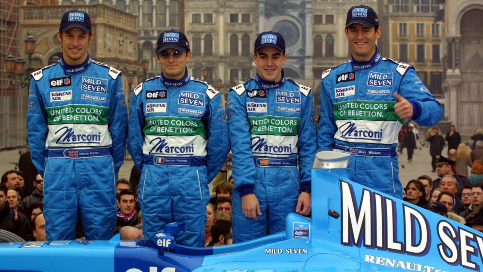 2001 Benetton B201 Renault Launch