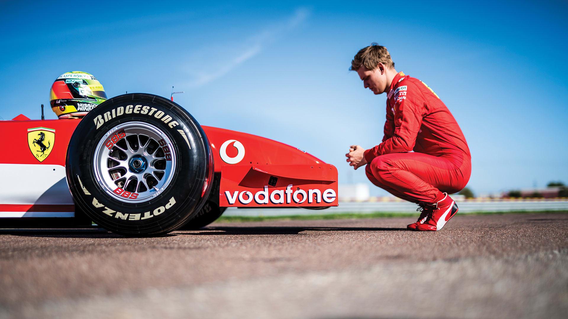 Mick Schumacher Drives Dad Michael S Soon To Be Auctioned Title Winning Ferrari Formula 1