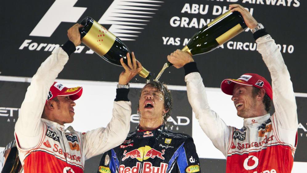 Lewis Hamilton Sebastian Vettel Jenson Button Abu Dhabi Grand Prix 2010.jpg