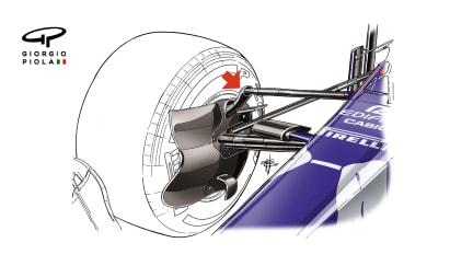 Toro Rosso SRT13 - front suspension detail