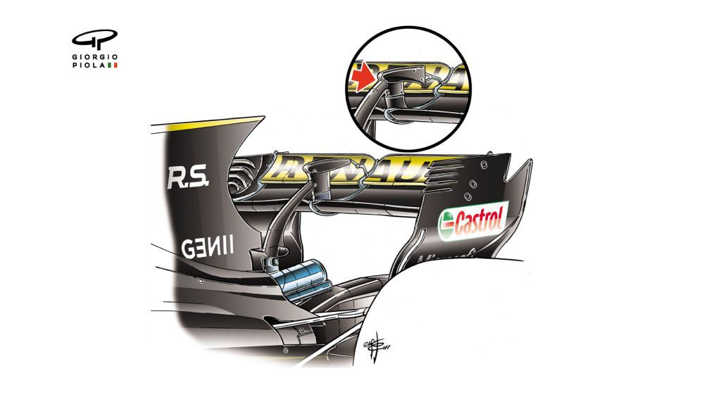 Renault R.S.17 - rear wing support
