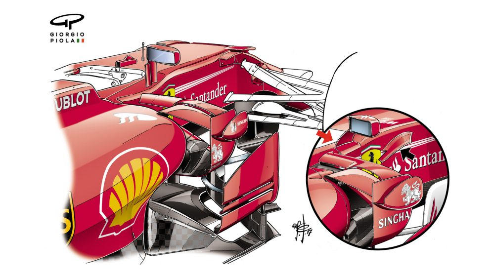 Ferrari SF70H - rear-view mirrors
