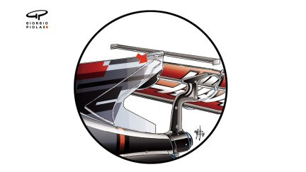 Haas VF-17 - stiffened T-wing