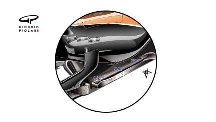 McLaren MCL32 - floor cuts