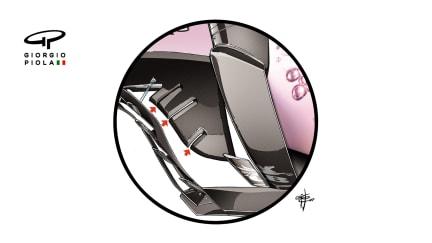 Force India VJM10 - floor cuts