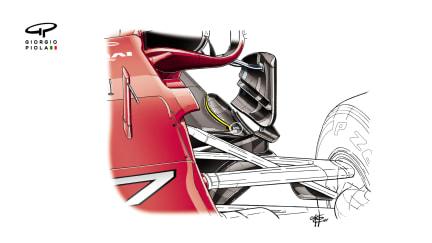 Ferrari SF70H - floor cuts