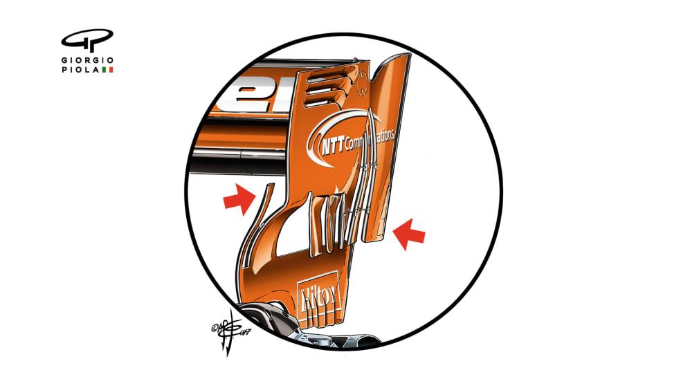McLaren MCL32 - Russia rear wing