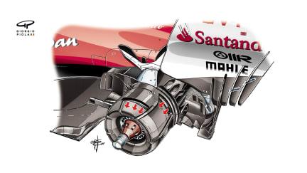 Ferrari SF70H - Russia rear brakes
