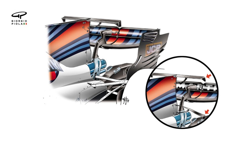 Williams FW40 - Russia T-wing
