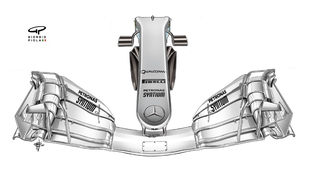 Mercedes F1 W08 - nose, Spain
