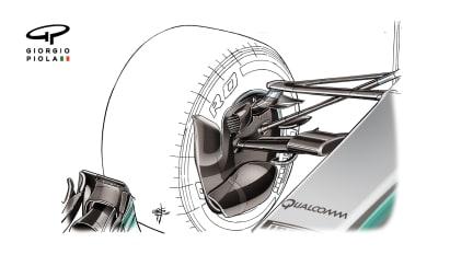Mercedes F1 W08 - Monaco brake duct