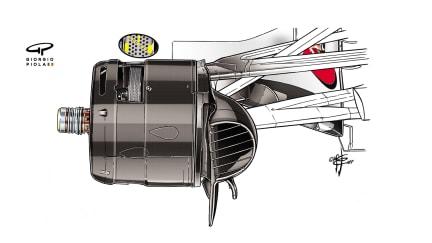 Ferrari SF70H - Canada brake ducts