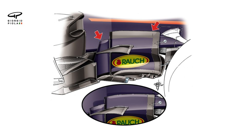 Red Bull RB13 - Azerbaijan barge boards