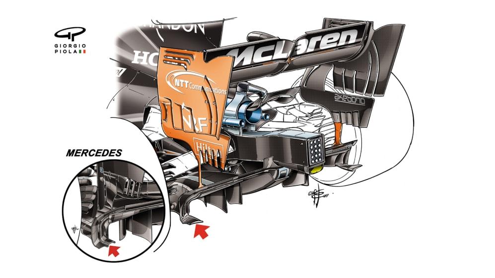McLaren MCL32 - Azerbaijan rear diffuser
