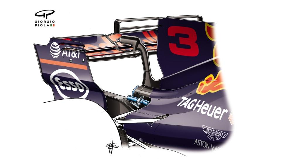 Red Bull RB13 - Azerbaijan rear wing