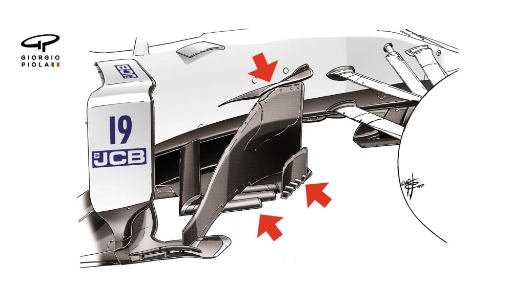 Williams FW40 - Austria barge boards