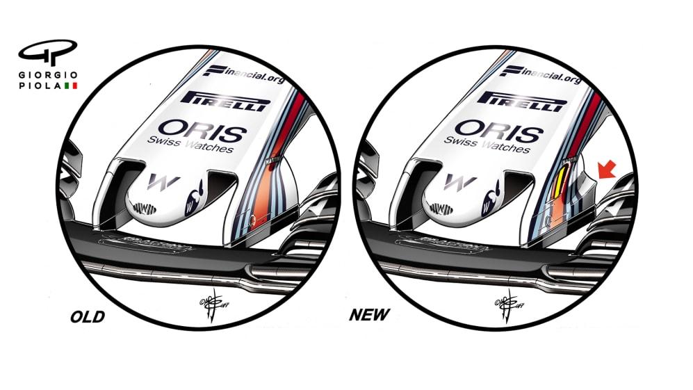 Williams FW40 - Silverstone nose