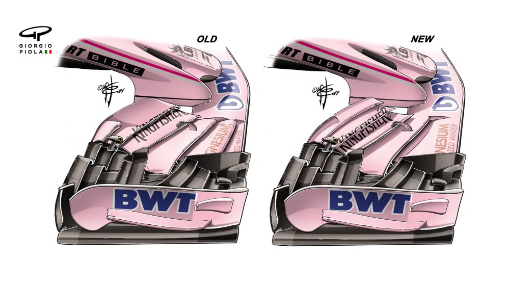 Force India VJM10 - Silverstone front wing
