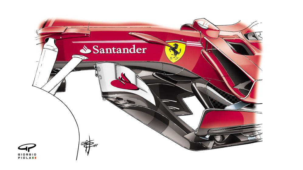 Ferrari SF70H - Hungary barge boards