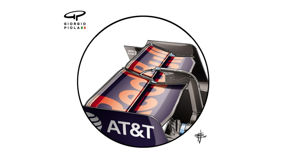 Red Bull RB13 - Monza rear wing