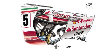 Ferrari SF70H - Spa rear wing