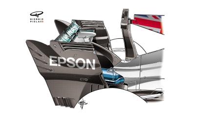 Mercedes F1 W08 - Monza rear wing