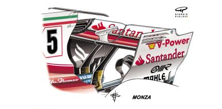 Ferrari SF70H - Monza rear wing