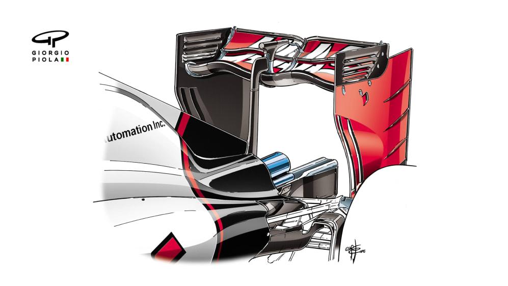 Haas VF-16 - Monza rear wing