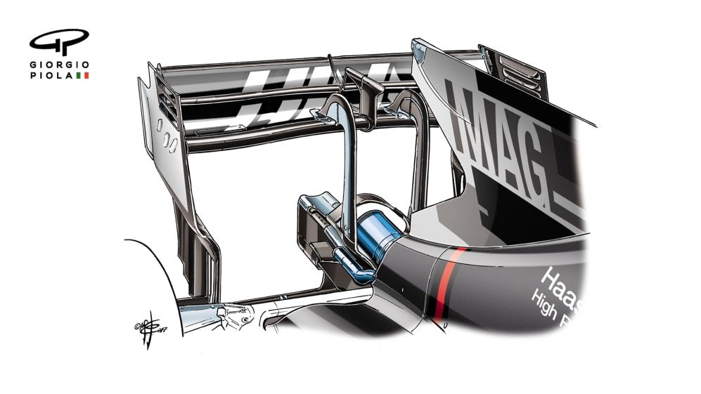 Haas VF-17 - Monza rear wing