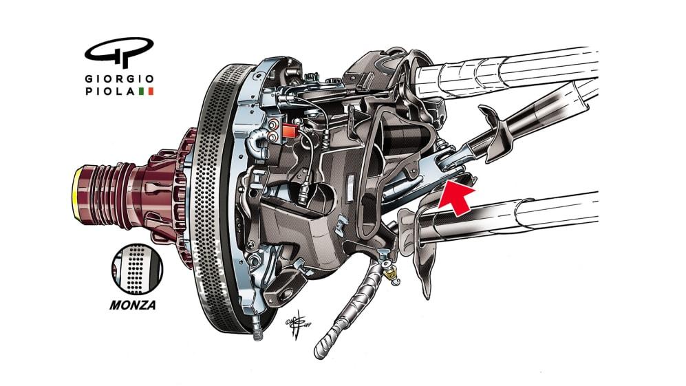 Ferrari SF70H - Singapore brakes